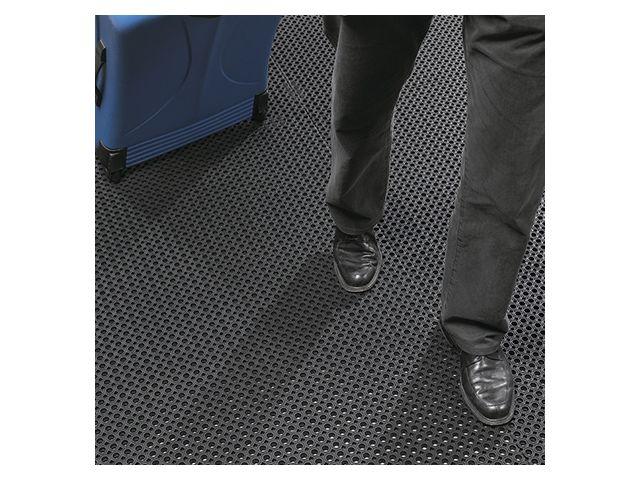 tapis de sol antiderapant caillebotis en caoutchouc pour entrees publiques