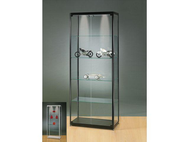 vitrine d exposition moderne avec eclairage led vitrine sv80