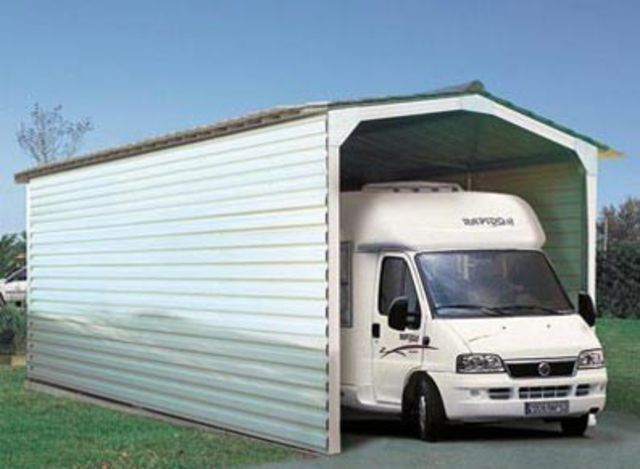 Abri Double Pente En Acier Camping Car Contact France Abris Contact France Abris
