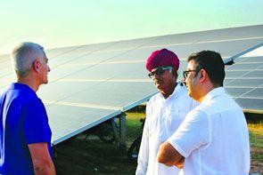 Installation panneaux solaires en Inde