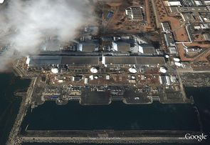 Après. La centrale de Fukushima Daiichi.