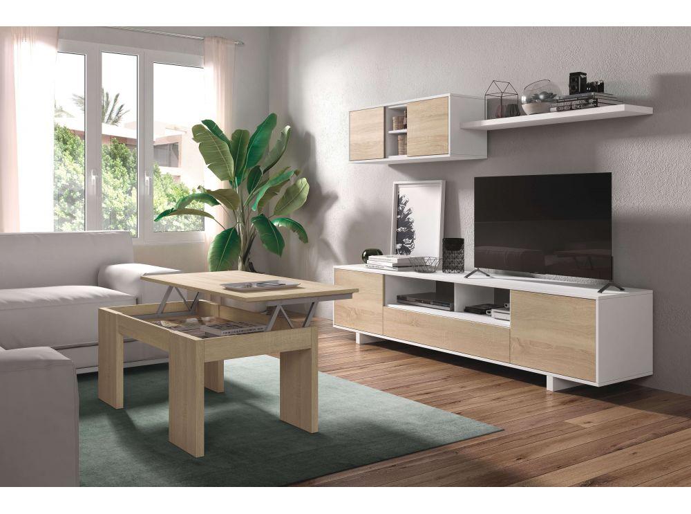 meuble tv hugo 3 portes et 1 niche avec