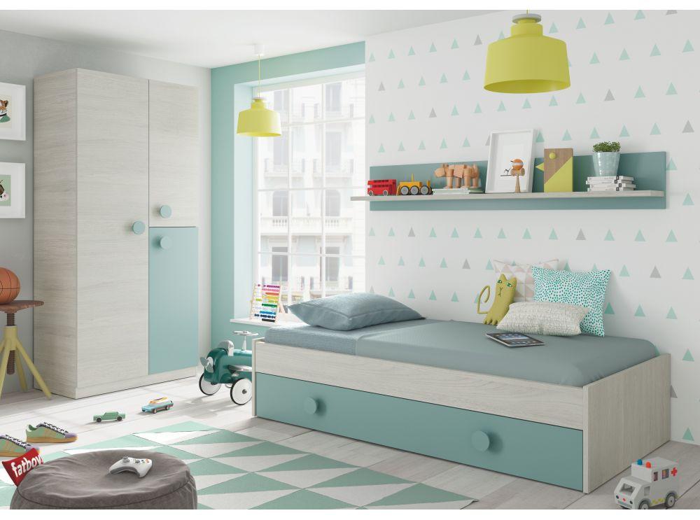 lit tiroir cyann sans sommier avec etagere murale usinestreet fr