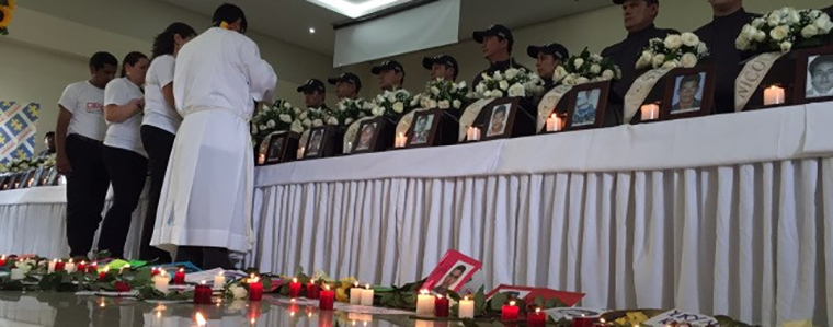 """Religious ceremony last December in Meta returning remains of 29 """"disappeared""""."""