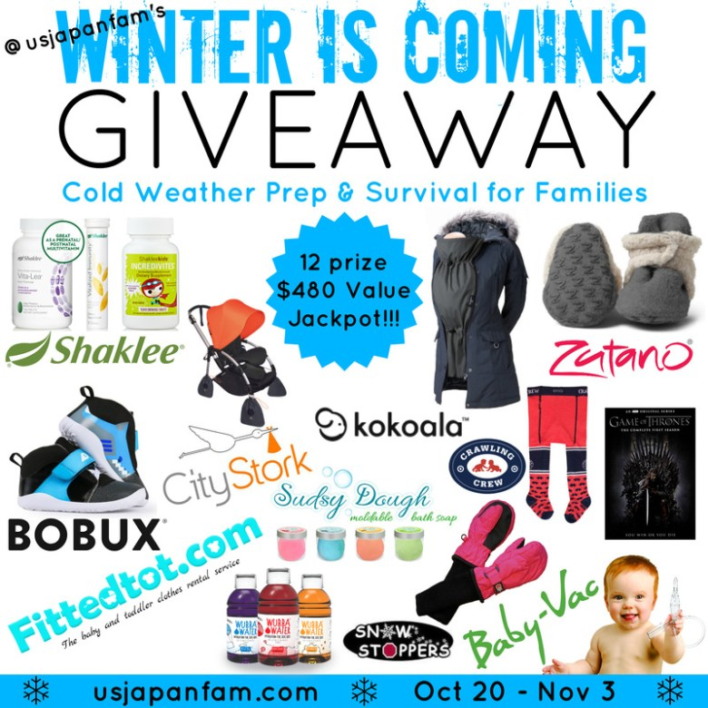 Tomika Talks Winter is Coming Giveaway - $480 jackpot with prizes to help families prepare for and survive winter!