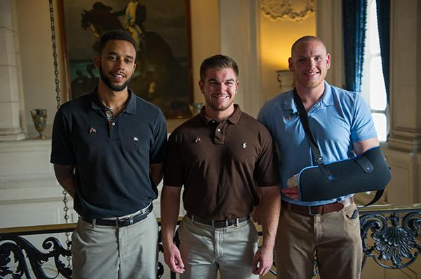 [L to R] Anthony Sadler, Alek Skarlatos and Spencer Stone. Photo Courtesy of USAF.