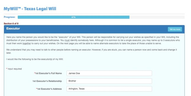 Write your own Will at USLegalWills.com