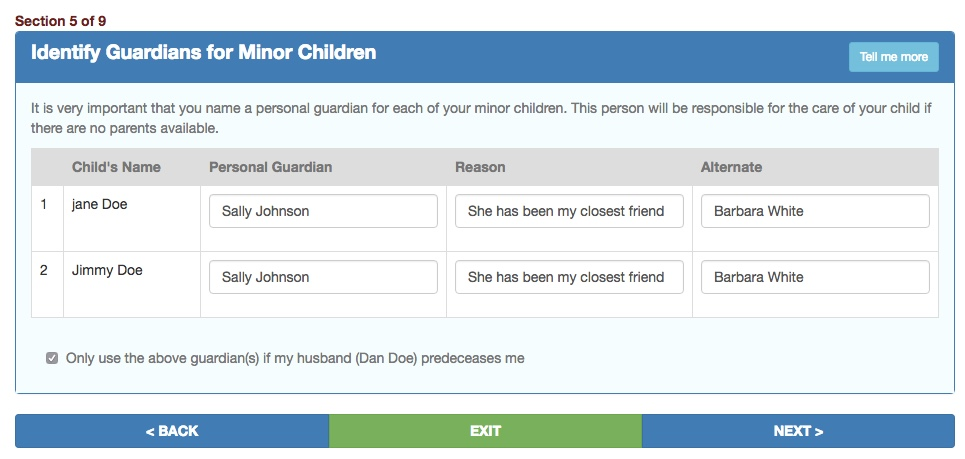 How do you name guardians for children your last will and testament as you can see you can not only name a guardian but also provide a reason for the chosen appointment you can then name an alternate guardian in case your solutioingenieria Gallery