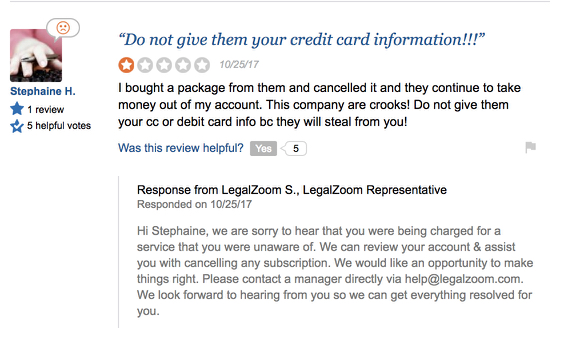review of legalzoom