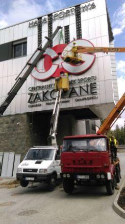 Podnośnik koszowy 28m Zakopane i Nowy Targ