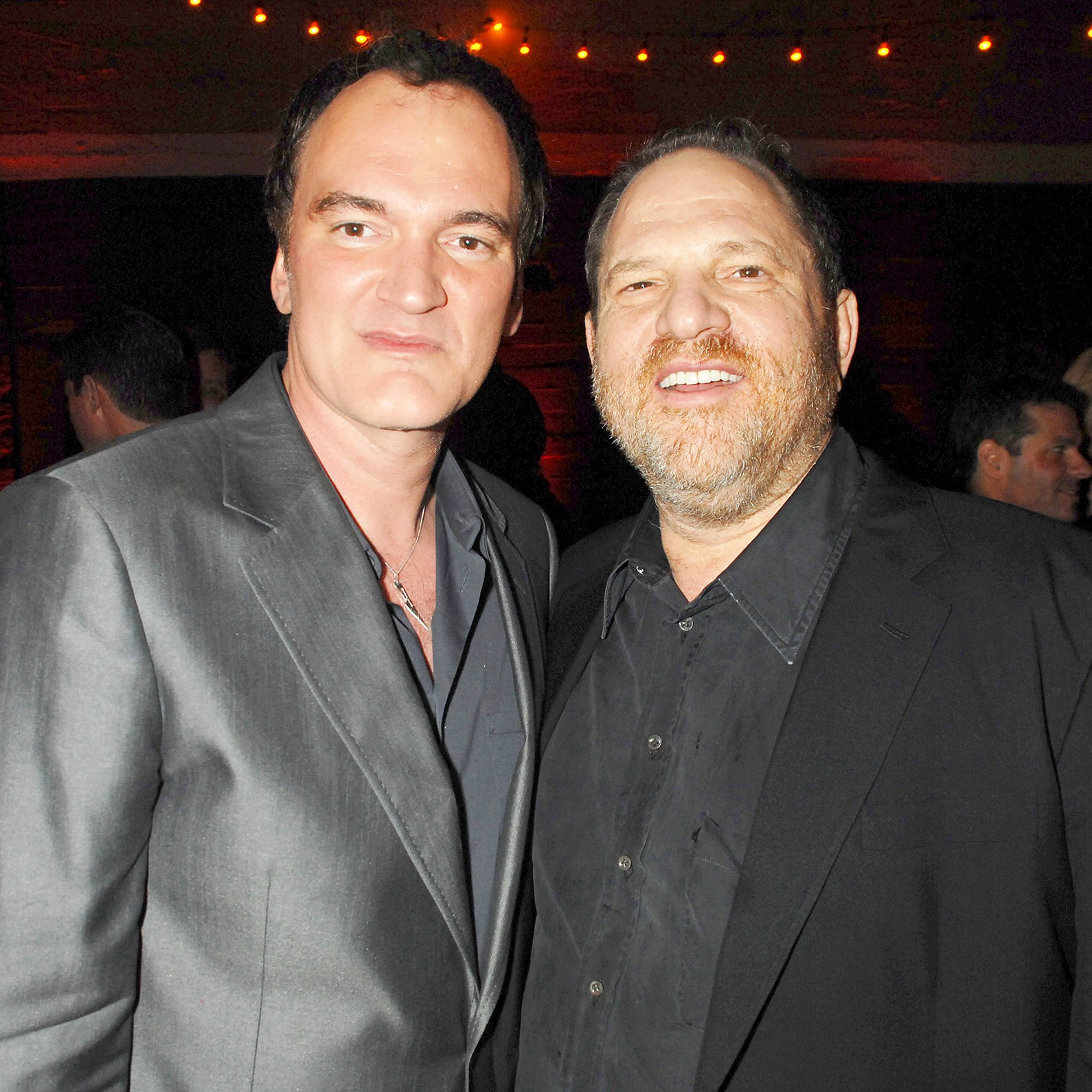 "Quentin Tarantino and Harvey Weinstein during ""Grindhouse"" Los Angeles Premiere in Los Angeles, California."