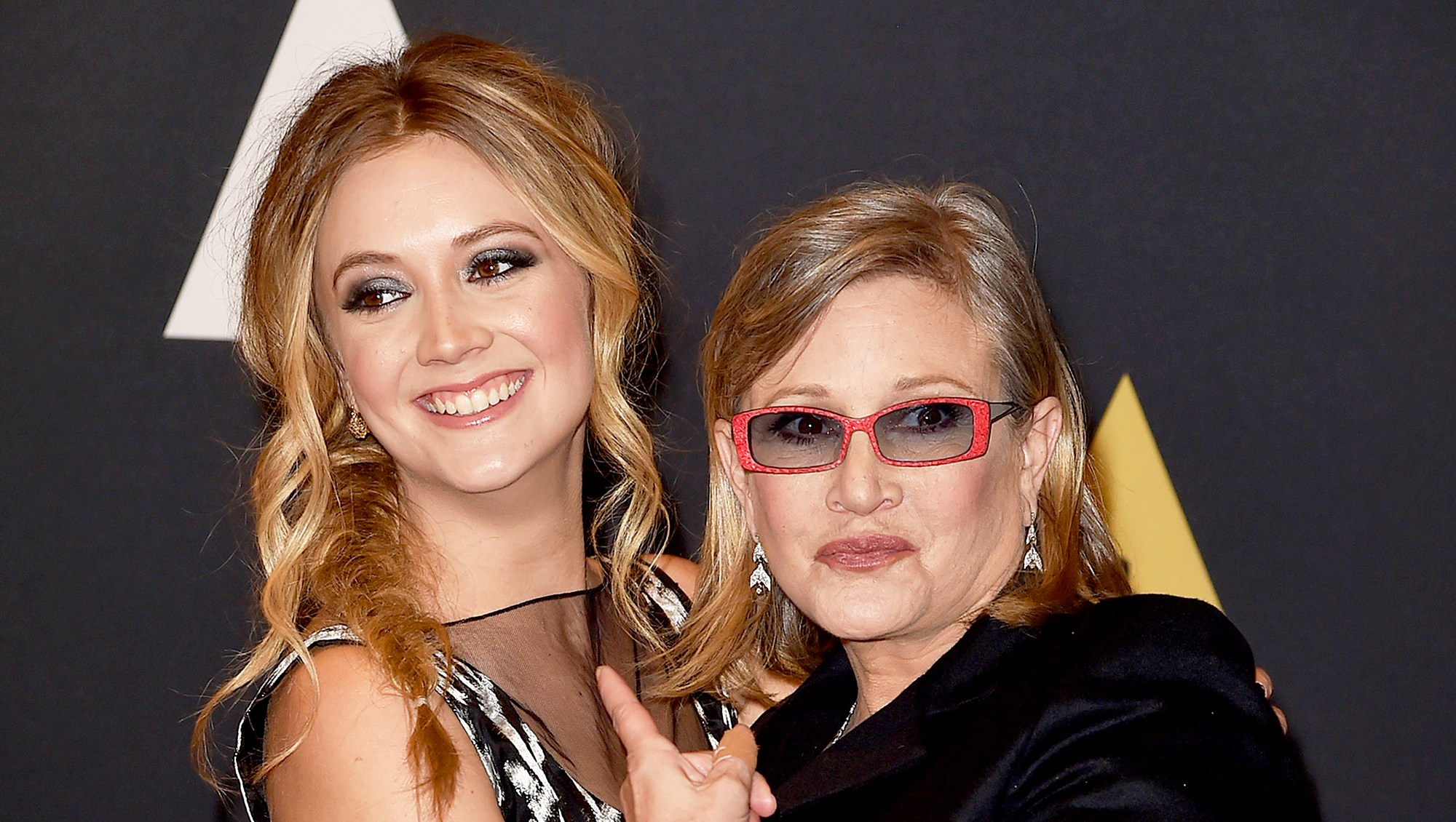 Carrie Fisher and Billie Catherine Lourd attend the Academy of Motion Picture Arts and Sciences' 7th annual Governors Awards at The Ray Dolby Ballroom at Hollywood & Highland Center on November 14, 2015 in Hollywood, California.