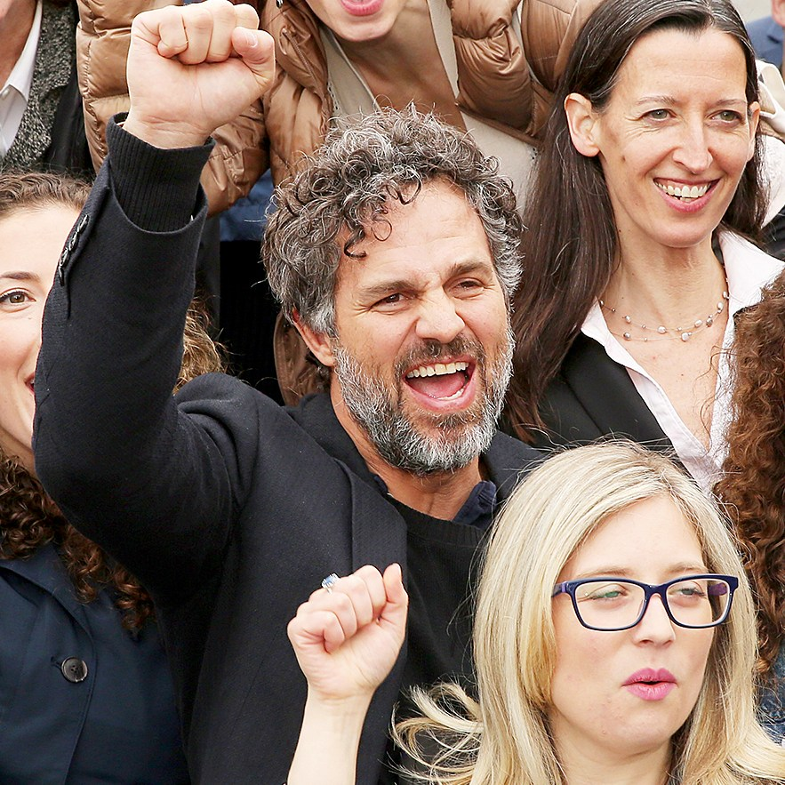 Mark Ruffalo attends campaign launch on May 2, 2016 in New York City.