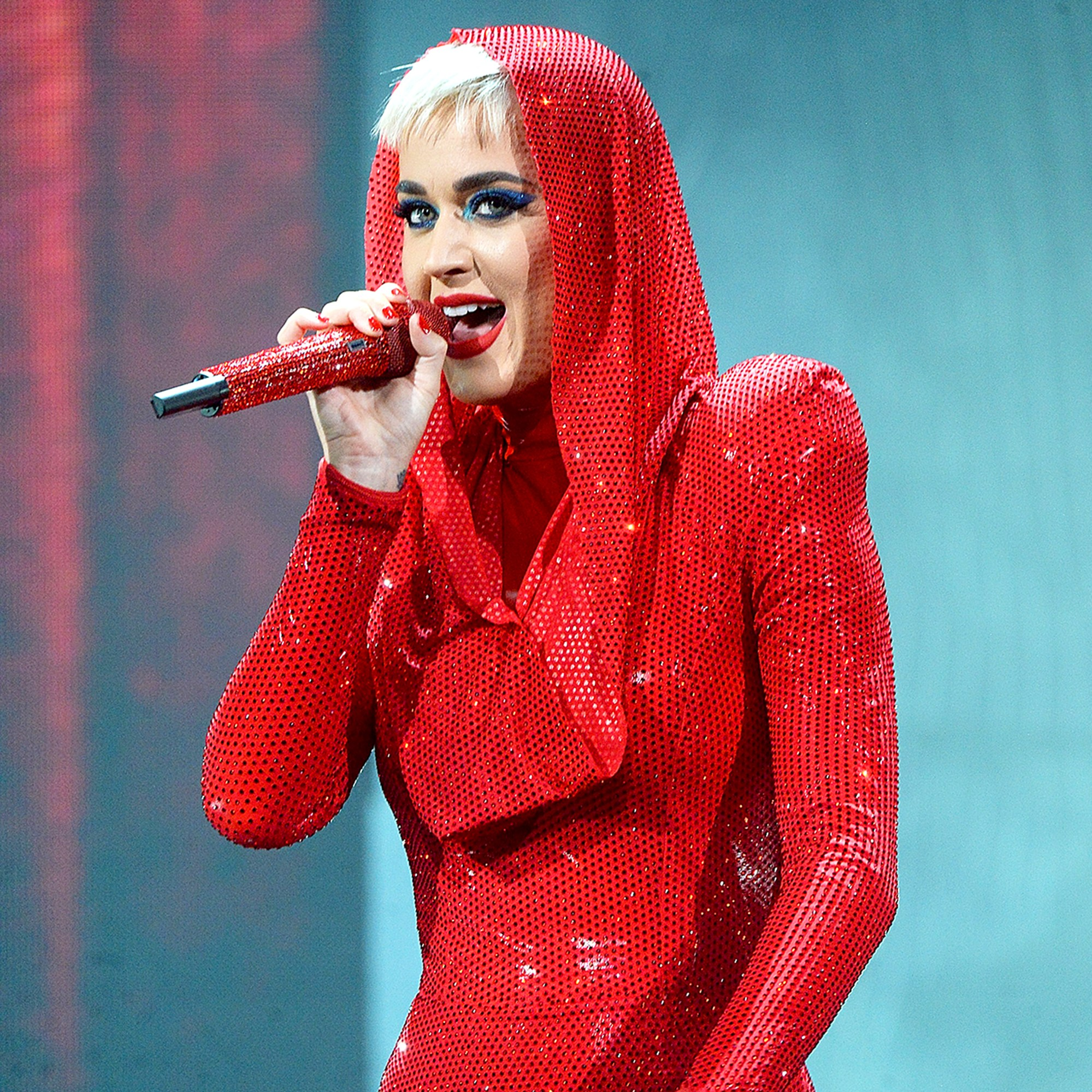"Katy Perry performs onstage during her ""Witness: The Tour"" at Bell Centre on September 19, 2017 in Montreal, Canada."