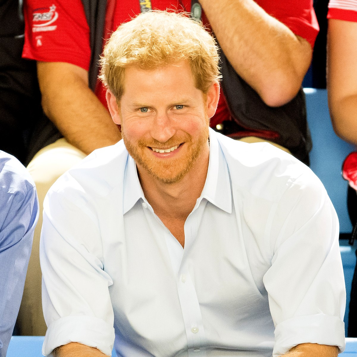Prince Harry watches the wheelchair basketball on day 7 of the Invictus Games Toronto 2017 on September 29, 2017 in Toronto, Canada.