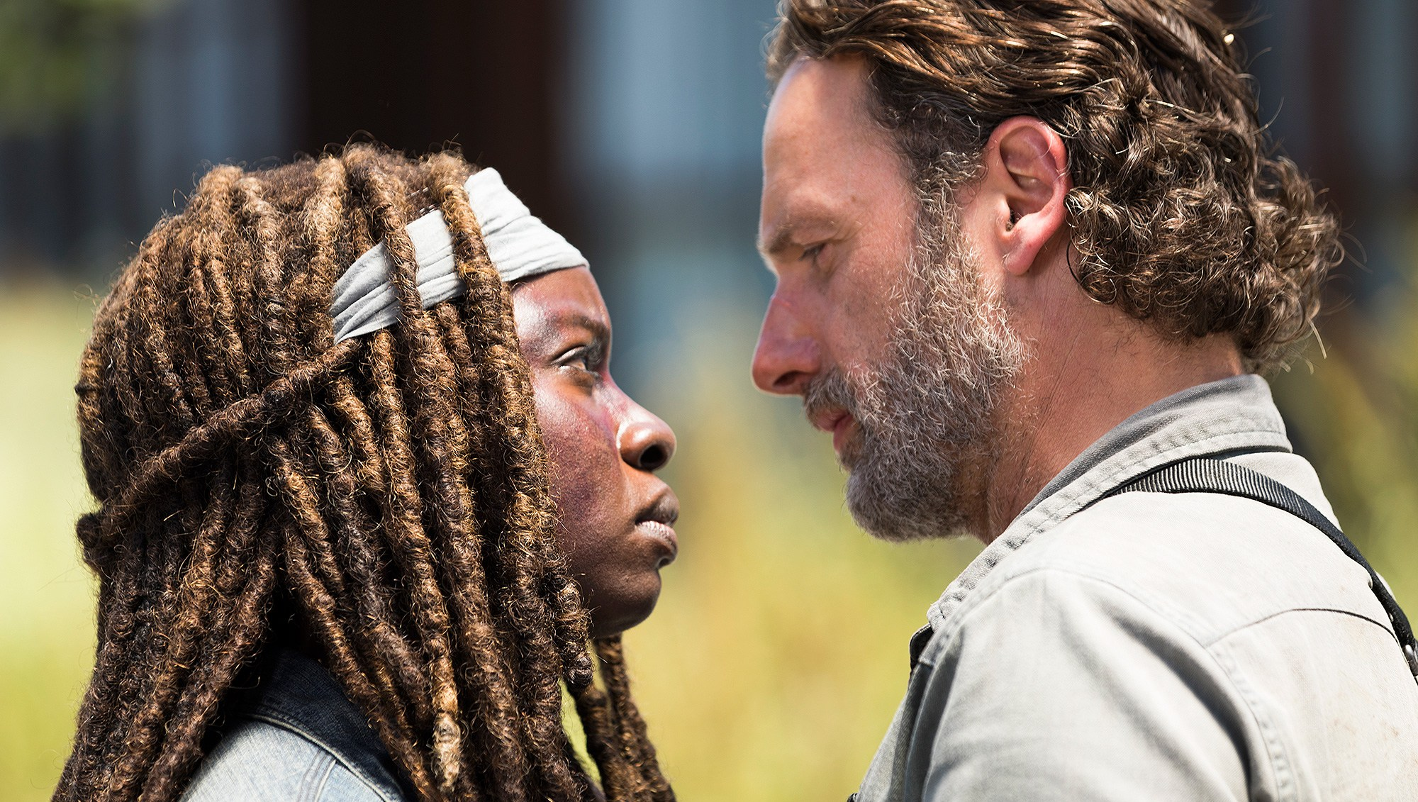 Andrew Lincoln, Rick Grimes, Danai Gurira, Michonne, The Walking Dead