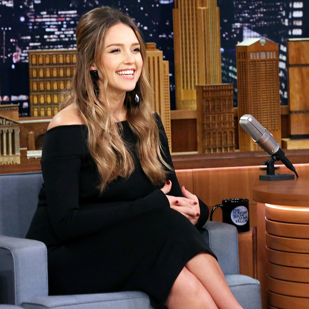 Jessica Alba The Tonight Show Starring Jimmy Fallon