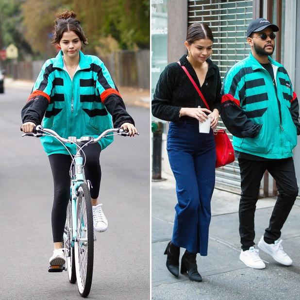 Selena Gomez The Weeknd jacket