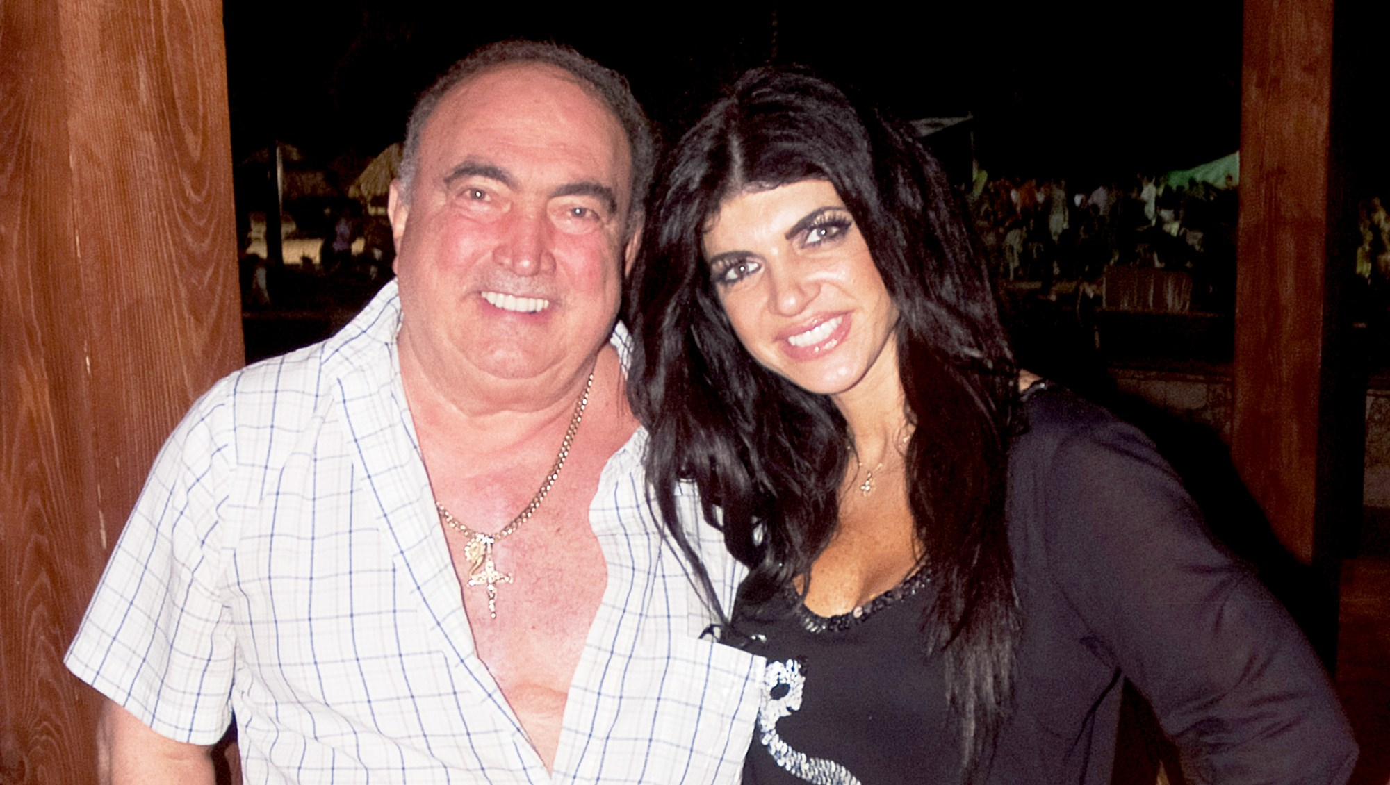 Teresa Giudice and Giacinto Gorga at the Majestic Resort on March 3, 2013 in Punta Cana, Dominican Republic.