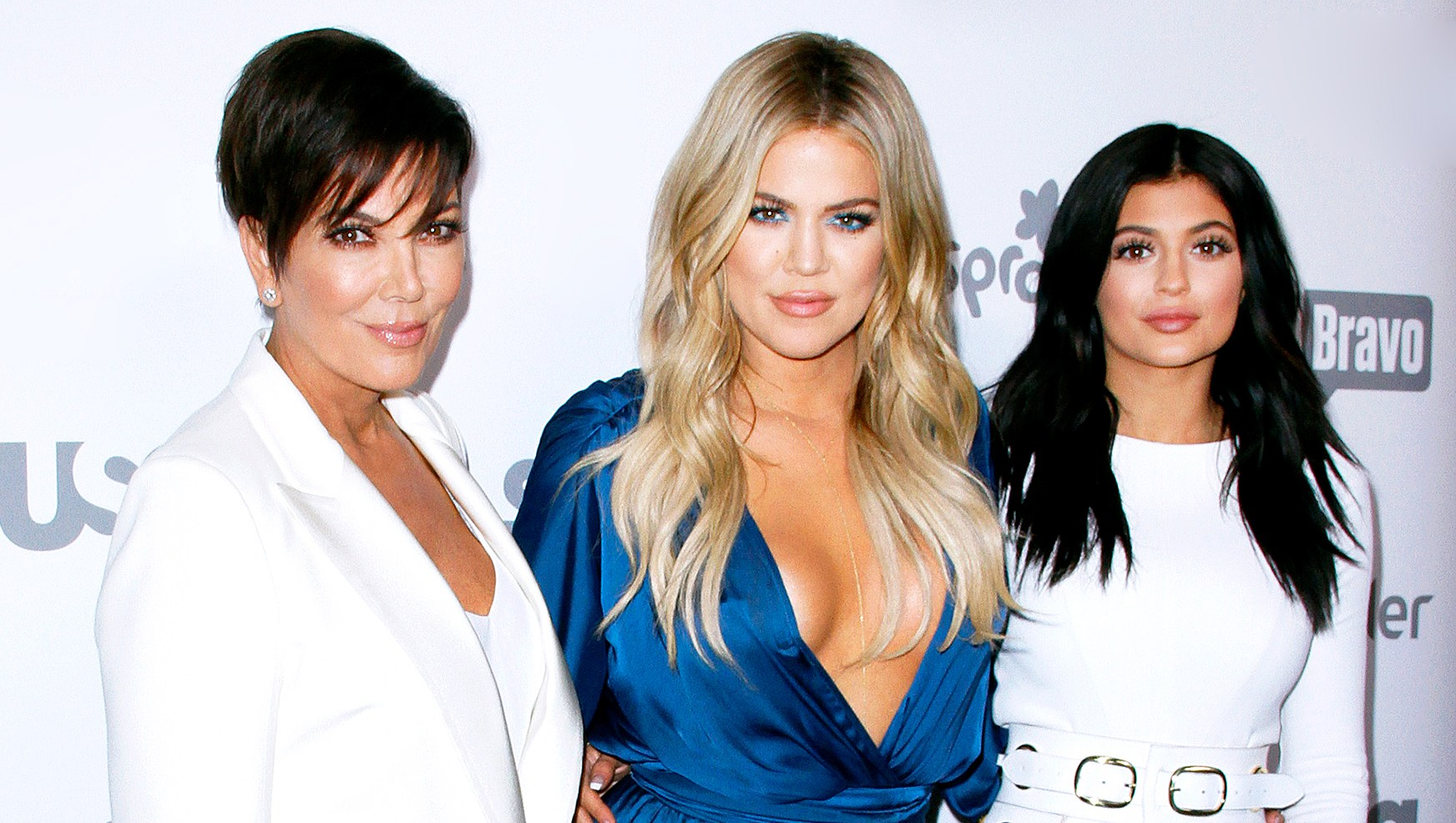 Kris Jenner, Khloe Kardashian and Kylie Jenner attend the 2015 NBCUniversal Cable Entertainment Upfront at The Jacob K. Javits Convention Center in New York City.