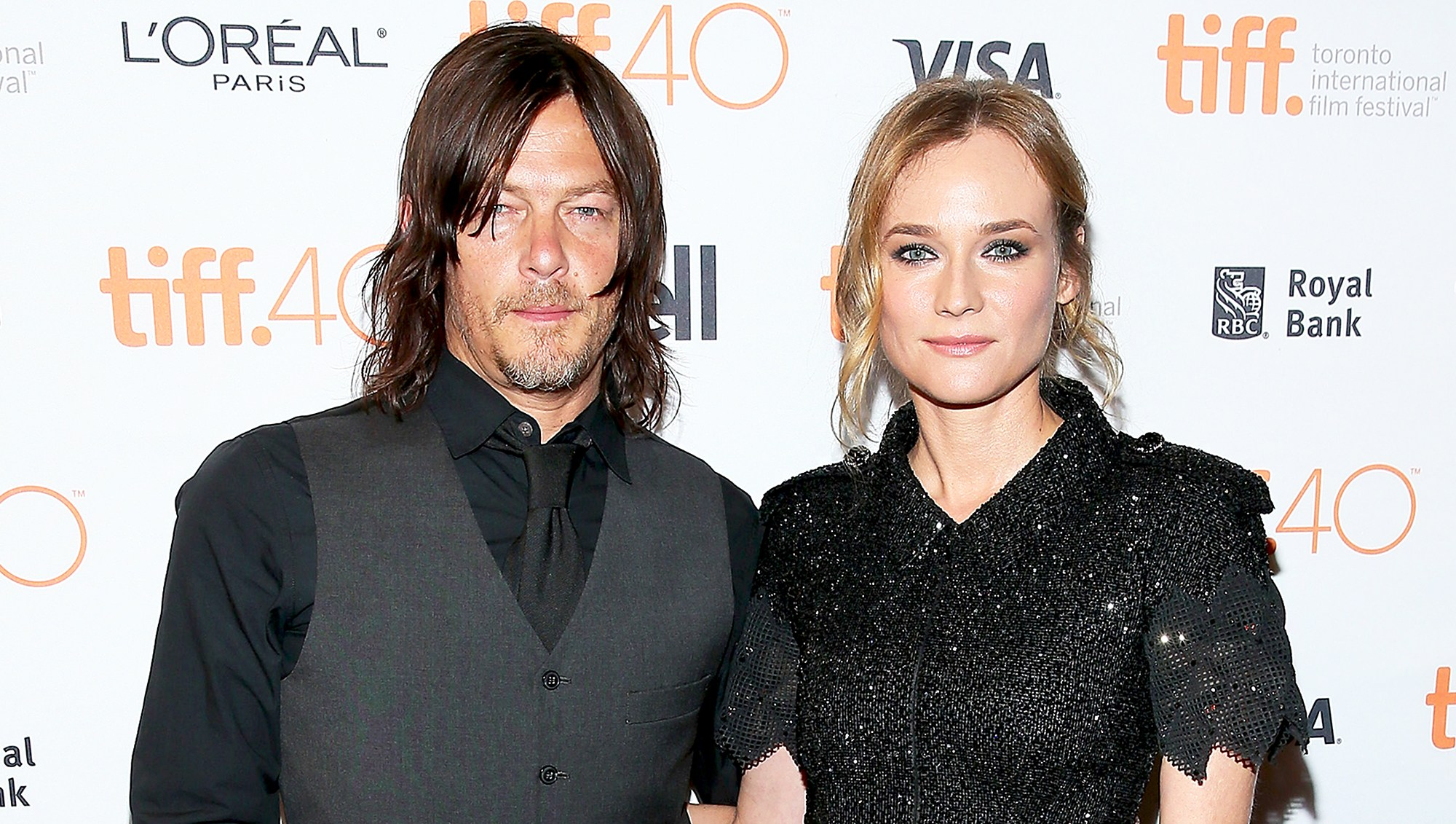 Norman Reedus and Diane Kruger attend the 2015 Toronto International Film Festival at The Elgin in Toronto, Canada.