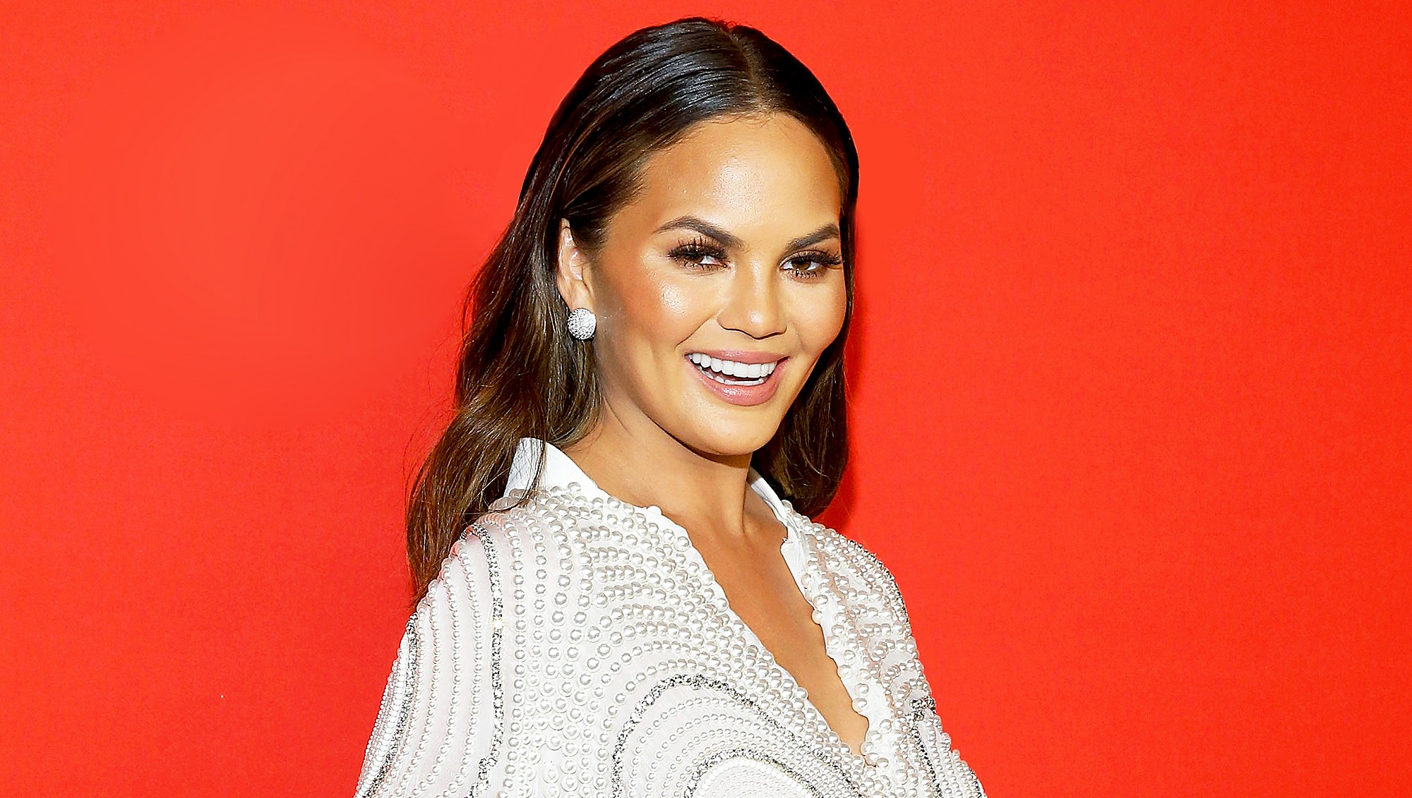 Chrissy Teigen attends Target's Toycracker Premiere event at Spring Studios in New York City.