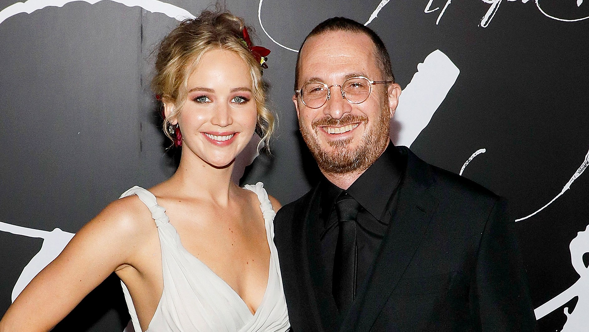 """Jennifer Lawrence and Darren Aronofsky attend the premiere of """"mother!"""" at Radio City Music Hall on September 13, 2017 in New York City."""