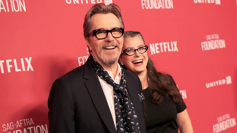 Gary Oldman and Gisele Schmidt attend the SAG-AFTRA Foundation Patron of the Artists Awards 2017 at the Wallis Annenberg Center for the Performing Arts on November 9, 2017 in Beverly Hills, California