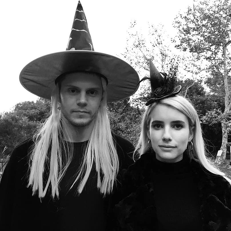 Evan Peters Emma Roberts witches Halloween costume