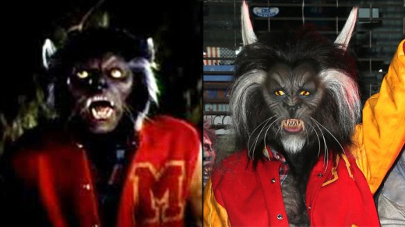 Heidi Klum Transformation Details of  Thriller  Halloween Costume Heidi Klum