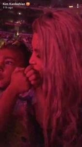 Kim Kardashian, North West, Katy Perry, Concert, Snapchat