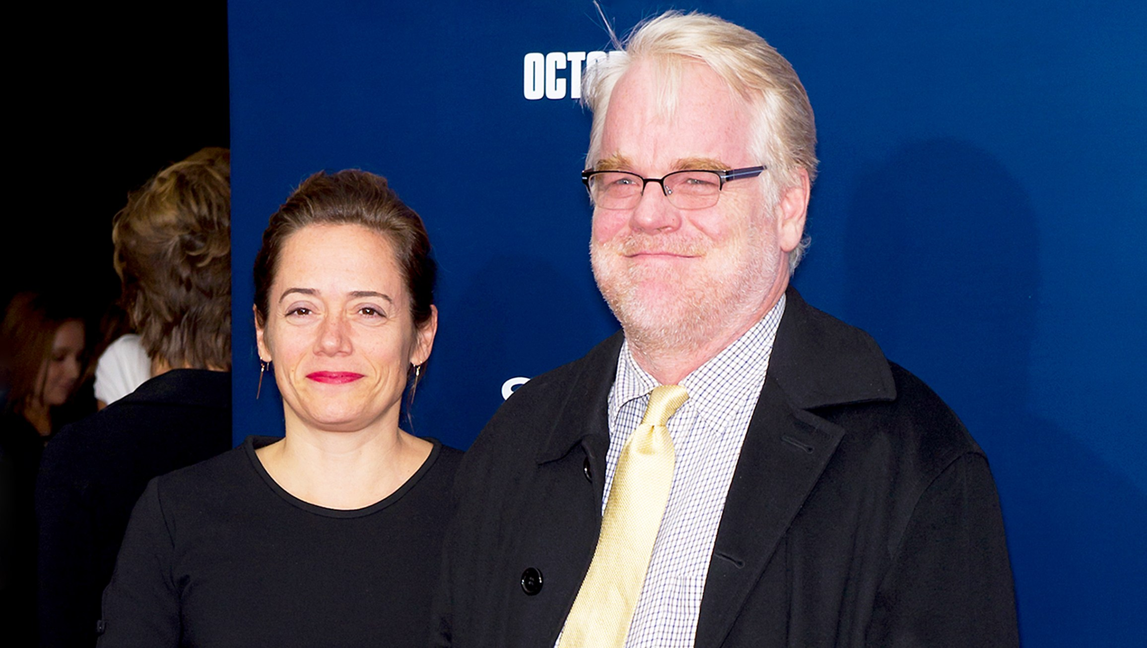"Mimi O'Donnell and Philip Seymour Hoffman attend the premiere of ""The Ides of March"" at the Ziegfeld Theater on October 5, 2011 in New York City."