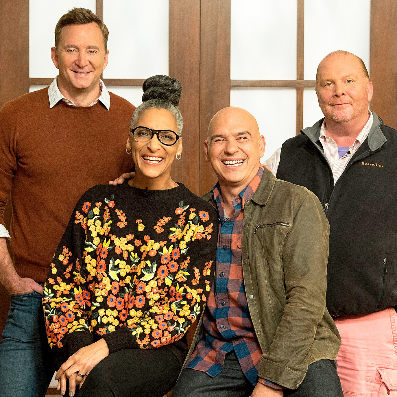 Clinton Kelly, Carla Hall, Michael Symon and Mario Batali on 'The Chew'
