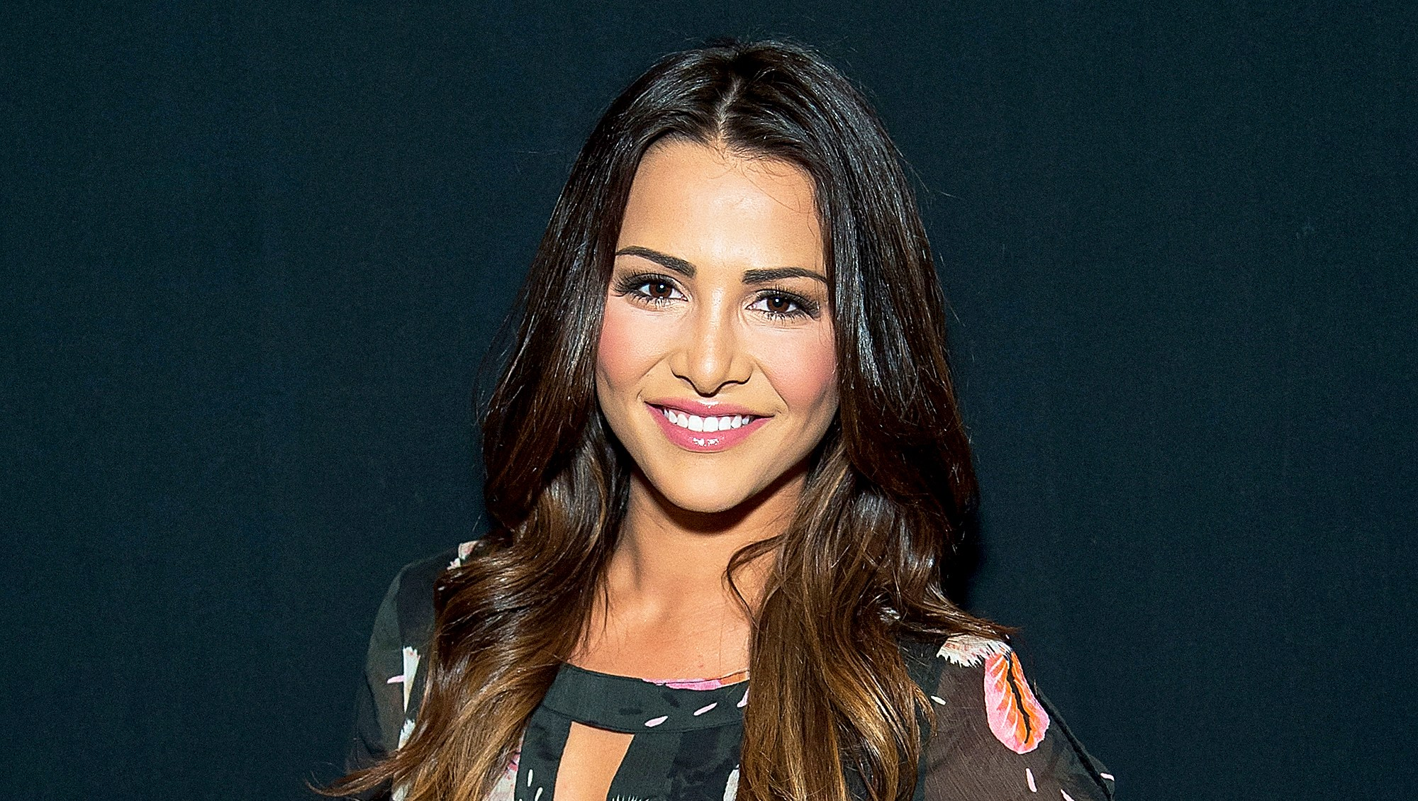 Andi Dorfman attends the Desigual fashion show during September 2016 New York Fashion Week at The Arc, Skylight at Moynihan Station in New York City.