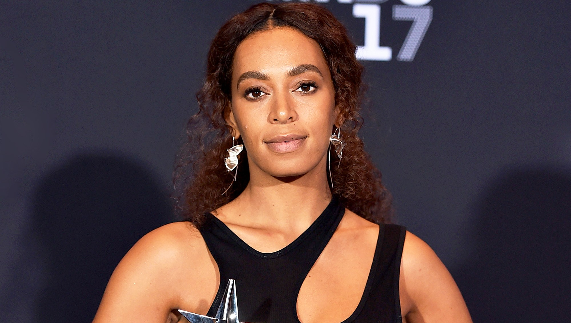 Solange attends the 2017 BET Awards at Microsoft Theater in Los Angeles, California.