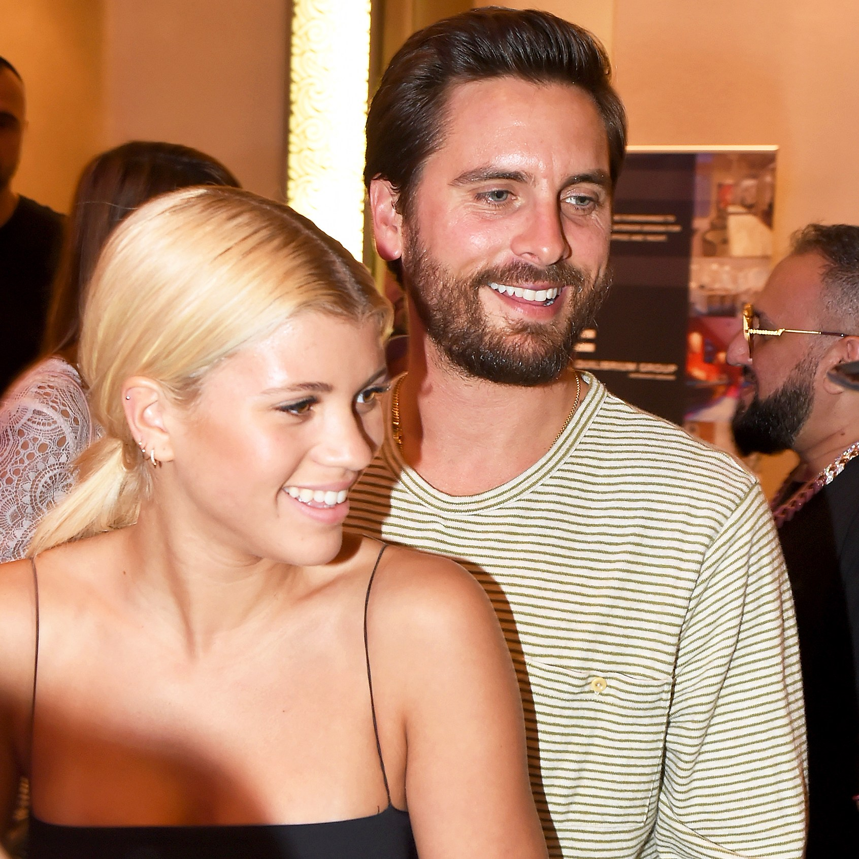 Sofia Richie and Scott Disick attend Haute Living's VIP Pop-Up opening of Alec Monopoly from Art Life and David Yarrow from Medal's Gallery on December 7, 2017 in Miami Beach, Florida.