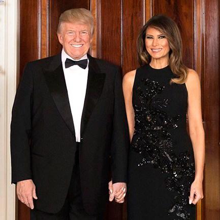 Donald Trump and Melania Trump Christmas card