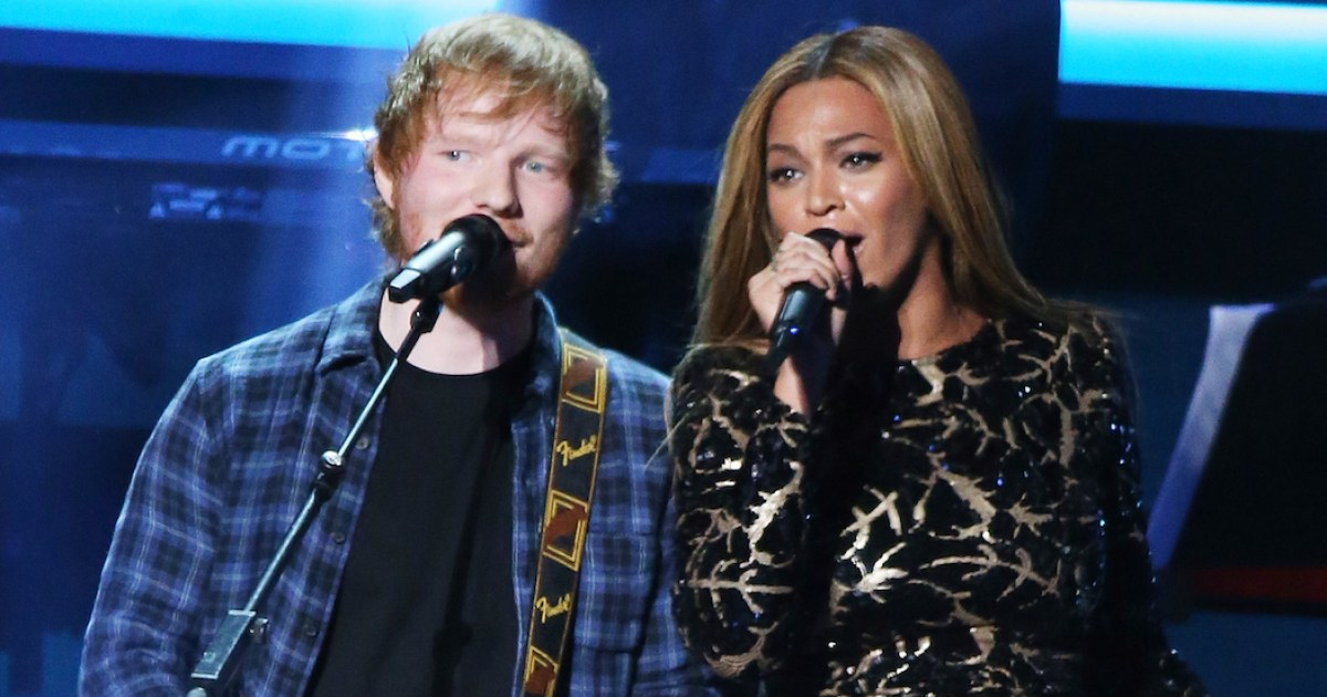 Ed sheeran says beyonce changes her email address every week for Us magazine address change