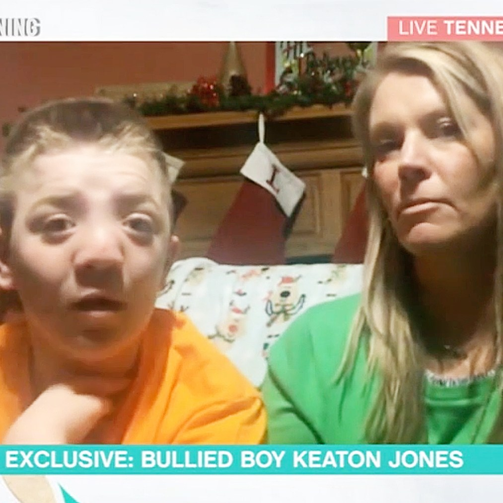 Keaton Jones and his mother on This Morning