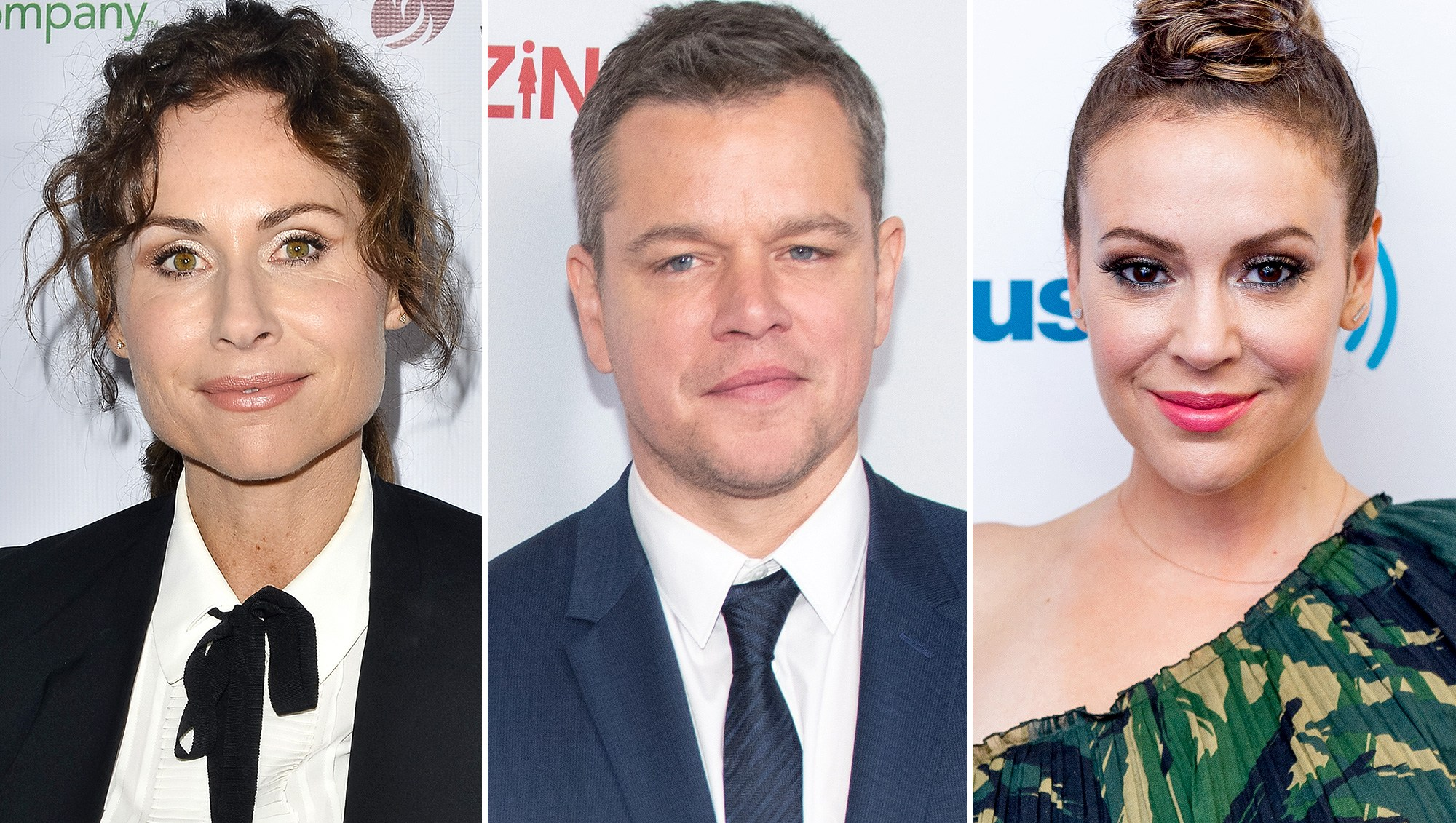 Minnie Driver, Matt Damon, Alyssa Milano, Sexual Allegations
