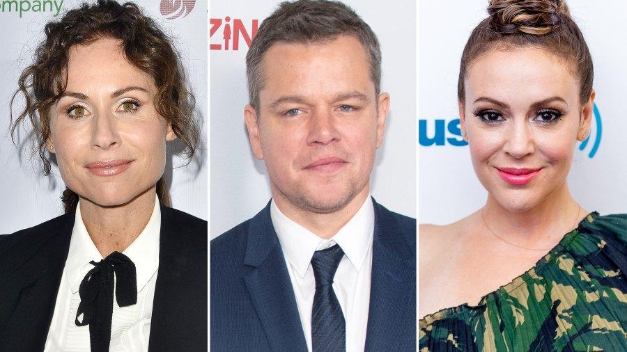 Minnie Driver, Matt Damon, Alyssa Milano, Sexual Allegations