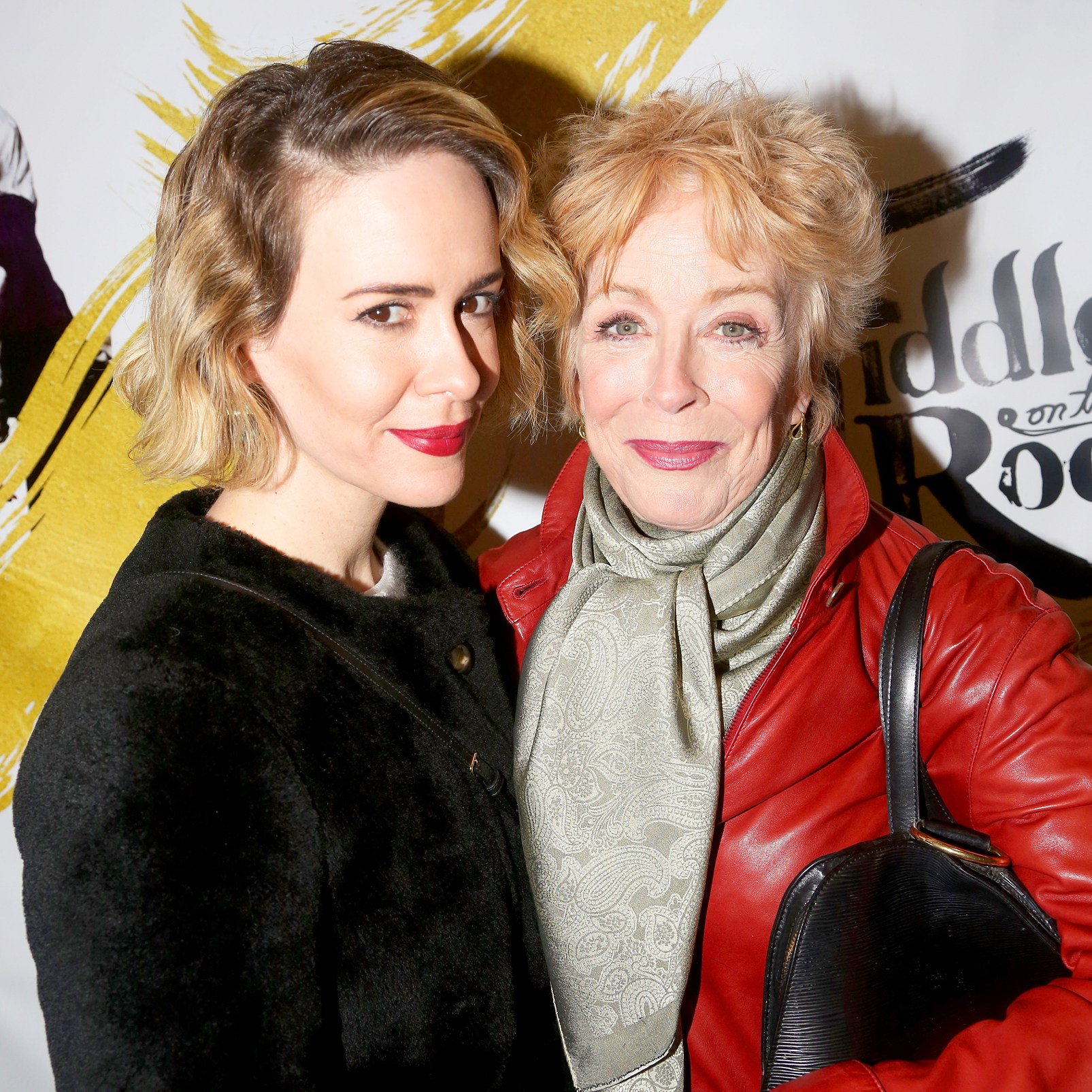 """Sarah Paulson and Holland Taylor attend the opening night for """"Fiddler On The Roof"""" on Broadway at The Broadway Theatre on December 20, 2015 in New York City."""