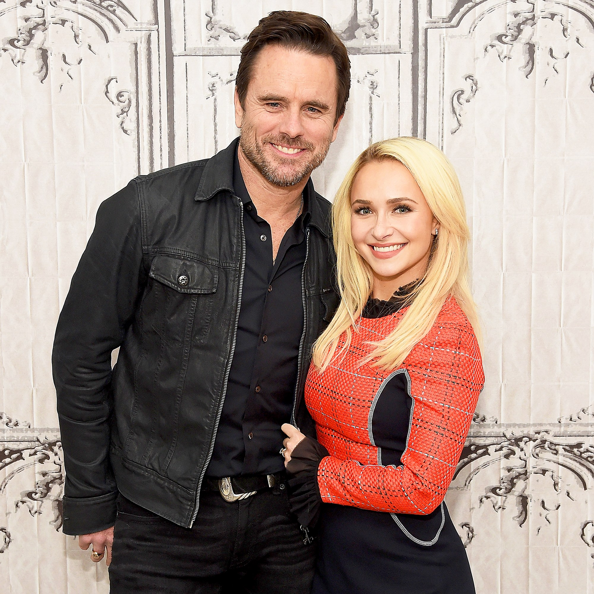 "Charles Esten and Hayden Panettiere attend Build Presents discussing ""Nashville"" at AOL HQ on January 5, 2017 in New York City."
