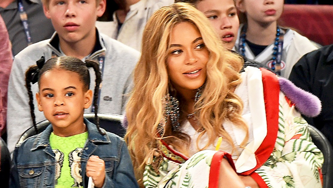 Beyonce and Blue Ivy attend the 66th NBA 2017 All-Star Game at Smoothie King Center in New Orleans, Louisiana.