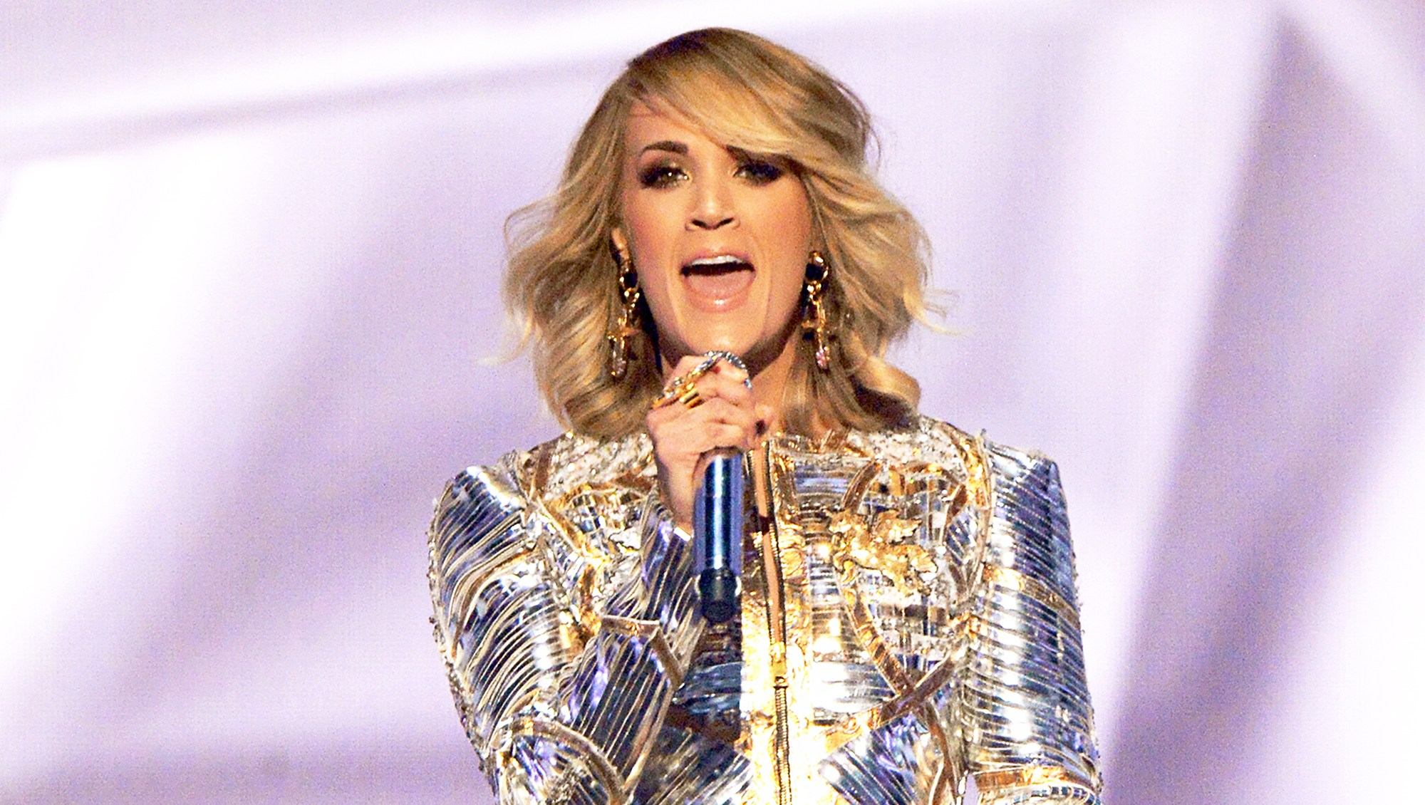 Carrie Underwood performs onstage during the 52nd Academy of Country Music Awards at T-Mobile Arena in Las Vegas, Nevada.