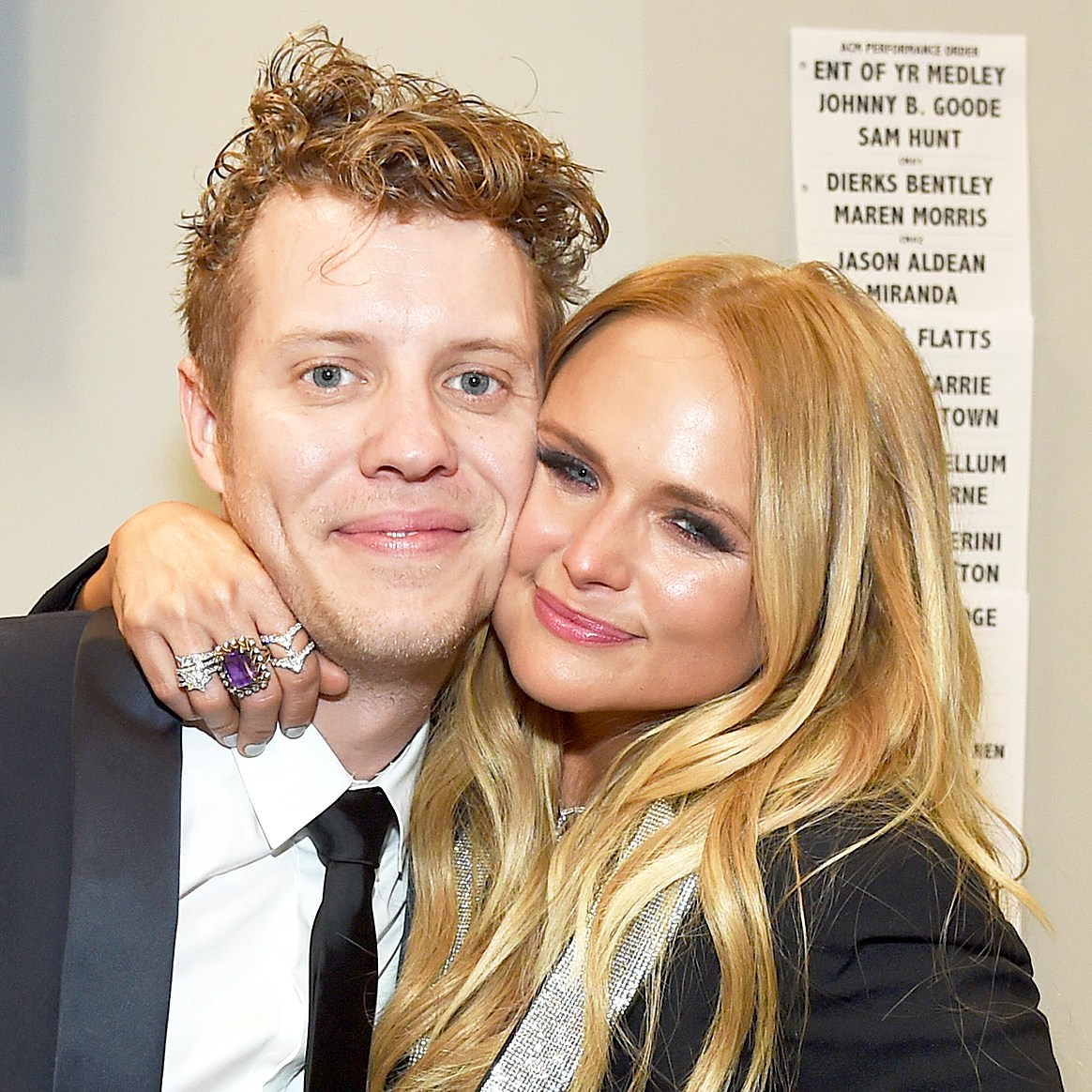 Anderson East and Miranda Lambert attends the 52nd Academy Of Country Music Awards at T-Mobile Arena in Las Vegas, Nevada.