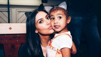 Kim Kardashian and daughter North West attend Ariana Grande's 'Dangerous Woman' tour at The Forum in Inglewood, California, on March 31, 2017.
