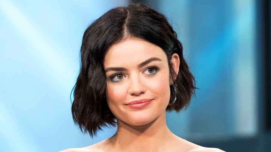 Lucy Hale visits Build Studios in New York City.