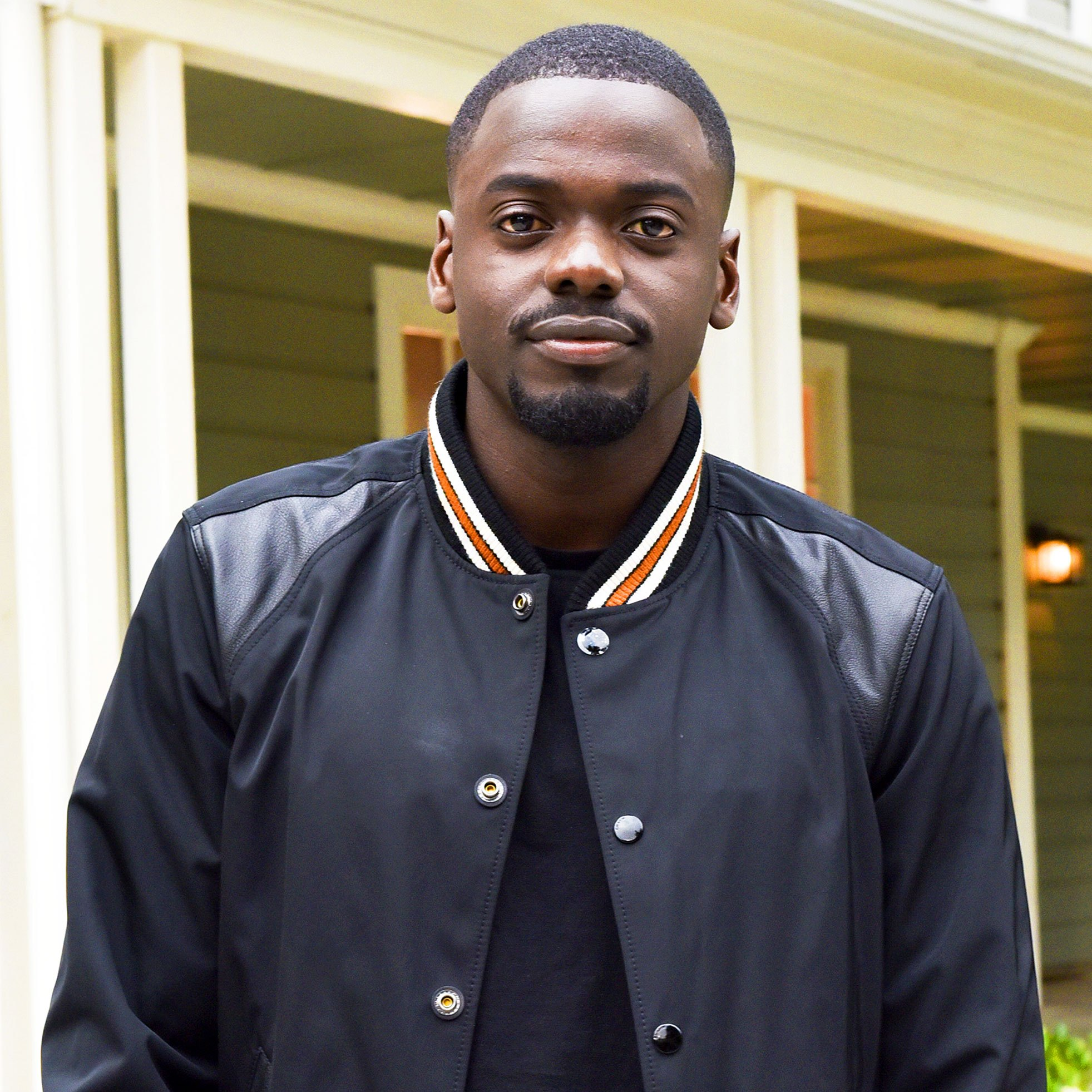 "Daniel Kaluuya arrives at ""Get Out"" garden party on May 9, 2017."