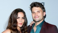 Katie Maloney and Tom Schwartz attend NBCUniversal's press junket at Beauty & Essex on November 13, 2017 in Los Angeles, California.